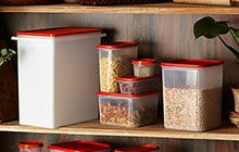 Fresh food storage with Tupperware.