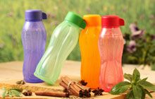 Tupperware colourful aquasafe bottles & tumblers.
