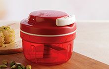 Chop faster with Tupperware's smart chopper